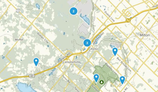 Milton, Ontario Forest Map