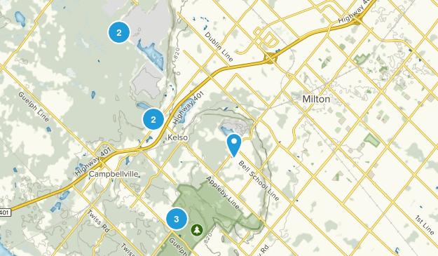 Milton, Ontario Snowshoeing Map