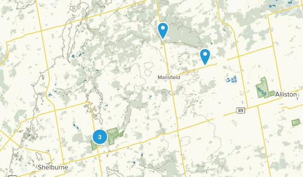 Mulmur, Ontario Hiking Map