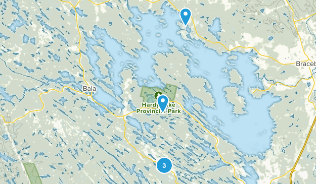 Muskoka Lakes, Ontario Dogs On Leash Map