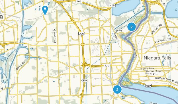 Niagara Falls, Ontario Hiking Map