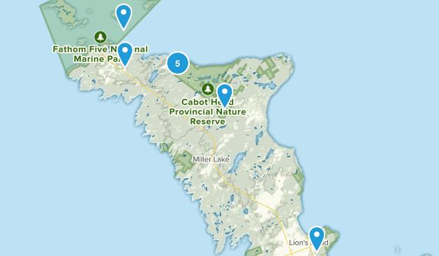 Northern Bruce Peninsula, Ontario Birding Map