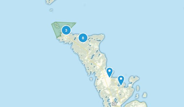 Northern Bruce Peninsula, Ontario Hiking Map