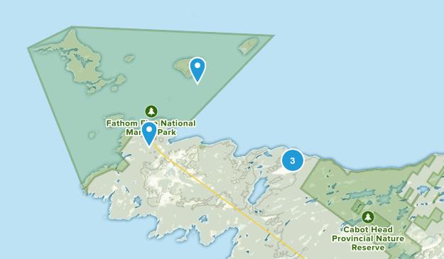 Northern Bruce Peninsula, Ontario Kid Friendly Map