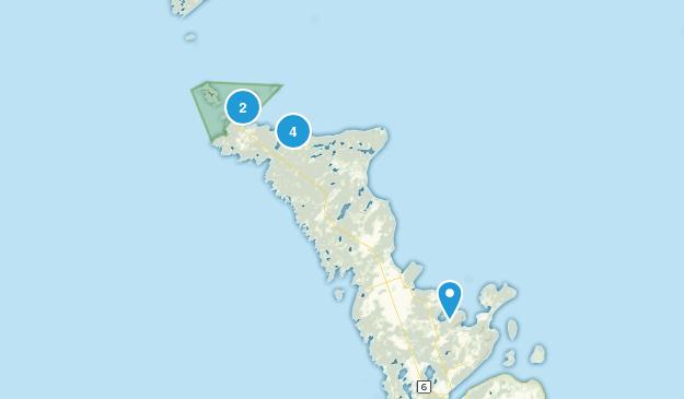 Northern Bruce Peninsula, Ontario Lake Map