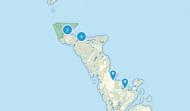 Northern Bruce Peninsula, Ontario Walking Map