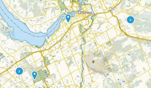 Ottawa, Ontario Cross Country Skiing Map