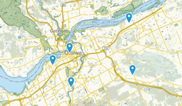 Ottawa, Ontario Road Biking Map
