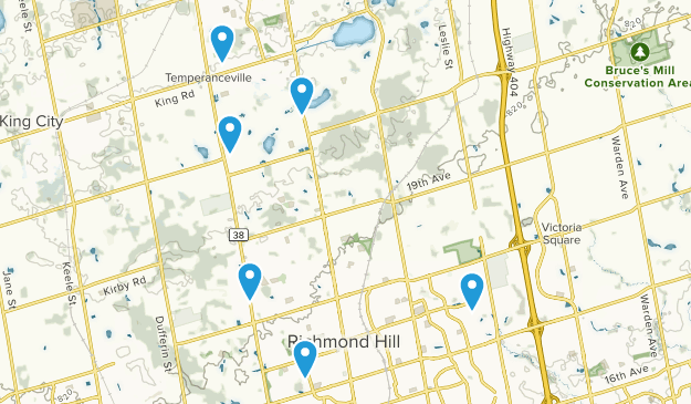 Richmond Hill, Ontario Dogs On Leash Map