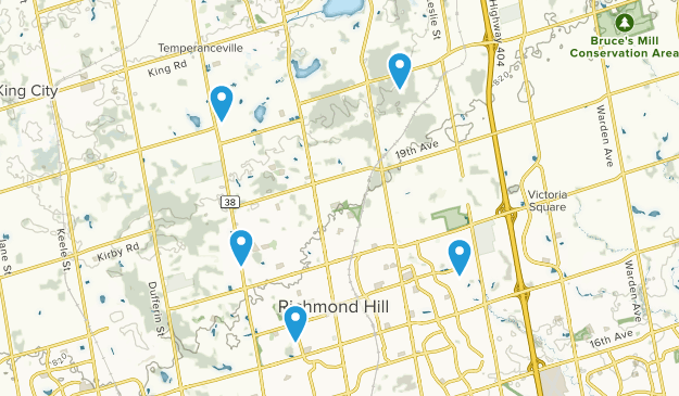 Richmond Hill, Ontario Forest Map