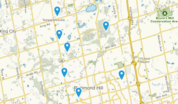 Richmond Hill, Ontario Hiking Map