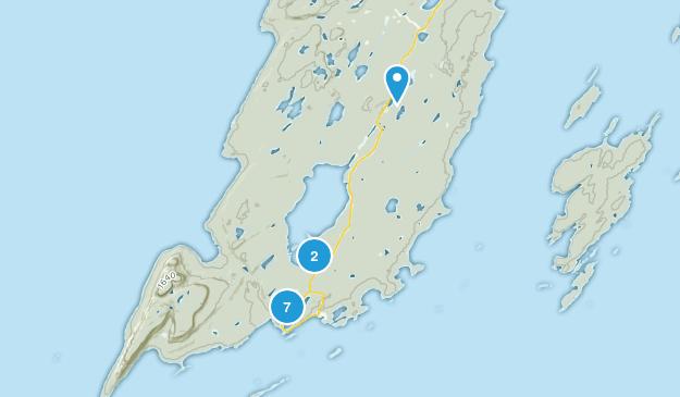 Silver Islet, Ontario Hiking Map