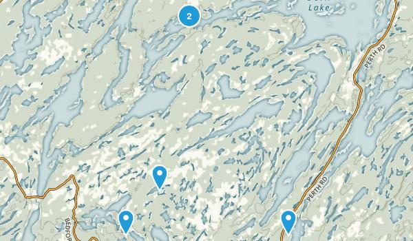 South Frontenac, Ontario Lake Map