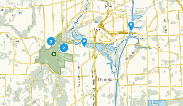 Thorold, Ontario Hiking Map