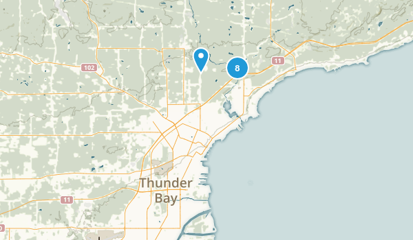 Thunder Bay, Ontario Forest Map
