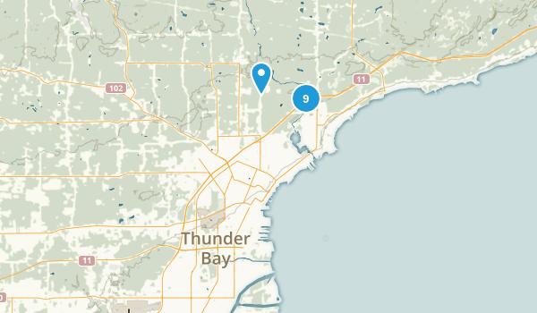 Thunder Bay, Ontario Hiking Map