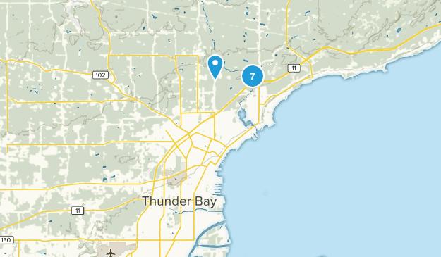 Thunder Bay, Ontario Nature Trips Map