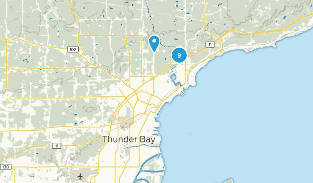 Thunder Bay, Ontario Walking Map