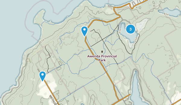 Tiny, Ontario Hiking Map