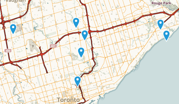 Toronto, Ontario Forest Map