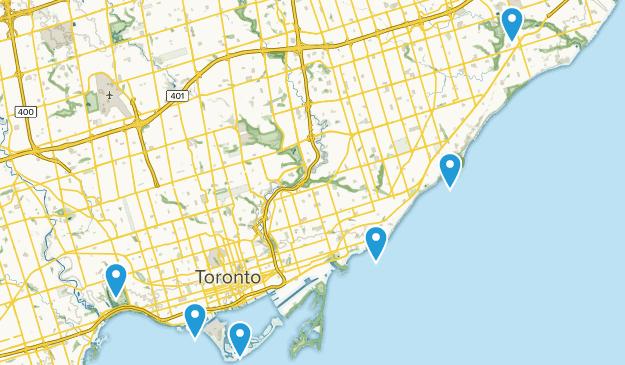 Toronto, Ontario Lake Map