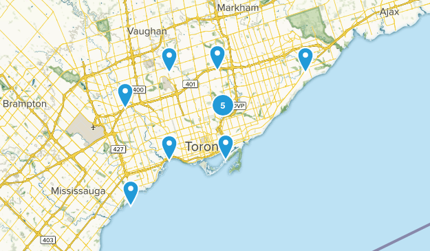Toronto, Ontario Mountain Biking Map