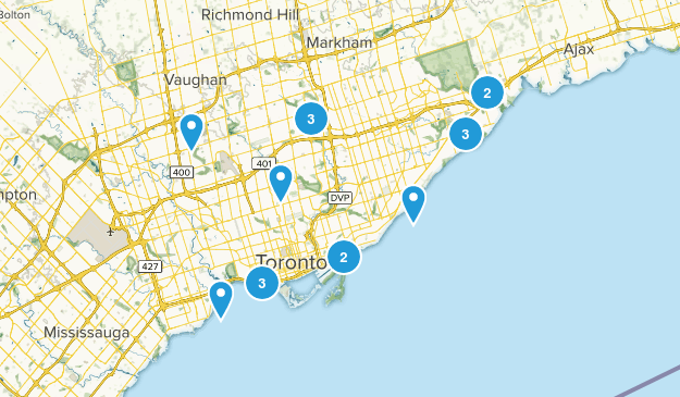 Toronto, Ontario Views Map