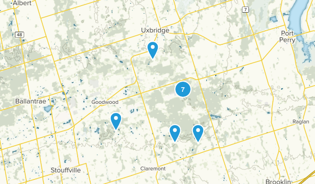 Uxbridge, Ontario Hiking Map