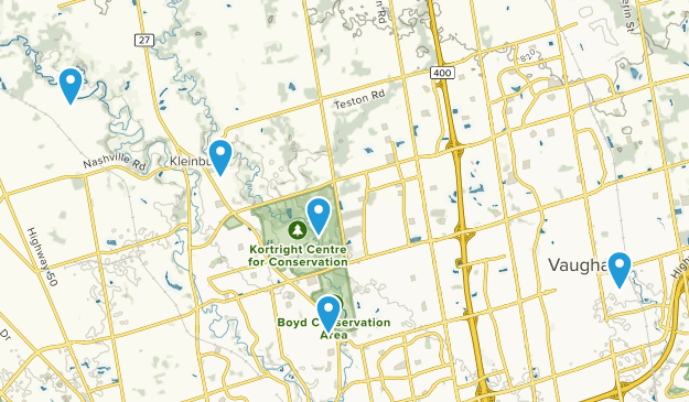 Vaughan, Ontario Hiking Map