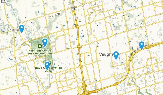 Vaughan, Ontario Mountain Biking Map