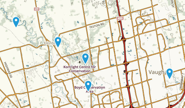 Vaughan, Ontario Walking Map