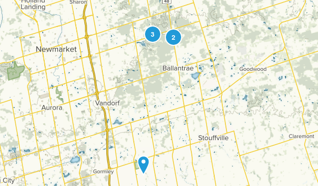 Whitchurch-Stouffville, Ontario Nature Trips Map