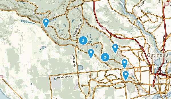 Gatineau, Quebec Forest Map