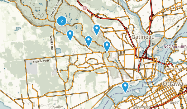 Gatineau, Quebec Mountain Biking Map