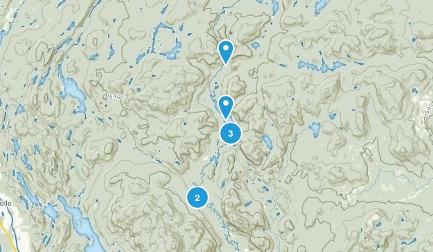 Lac-Supérieur, Quebec Hiking Map