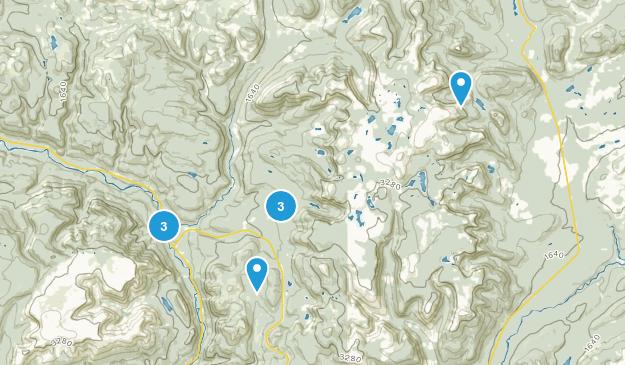 Mont-Albert, Quebec Hiking Map