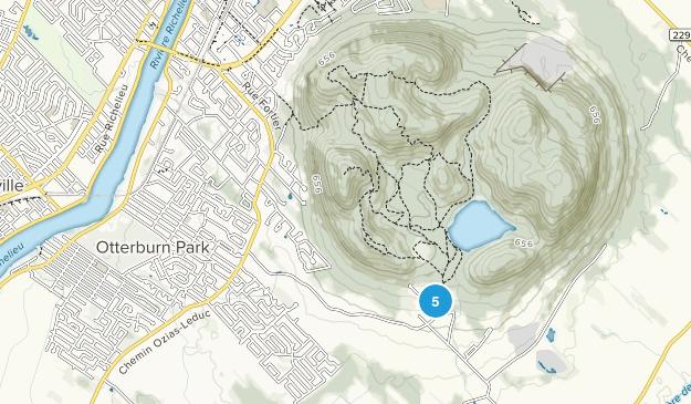 Mont-Saint-Hilaire, Quebec Hiking Map