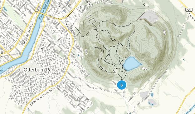 Mont-Saint-Hilaire, Quebec Trail Running Map