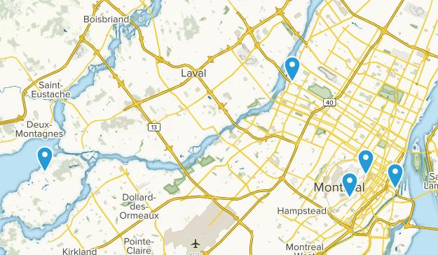 Montréal, Quebec Trail Running Map