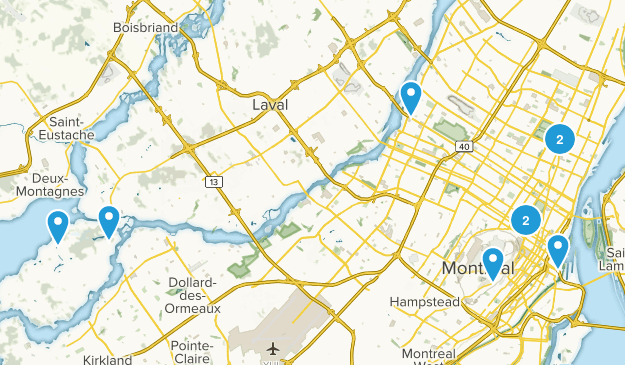 Montréal, Quebec Walking Map