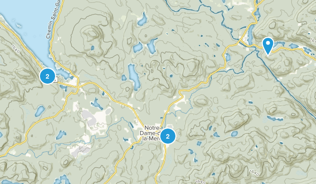 Notre-Dame-de-la-Merci, Quebec Hiking Map