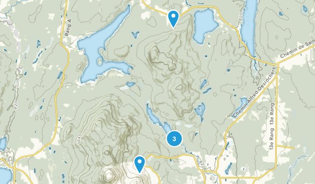 Orford, Quebec Snowshoeing Map