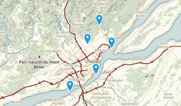 Québec, Quebec Walking Map