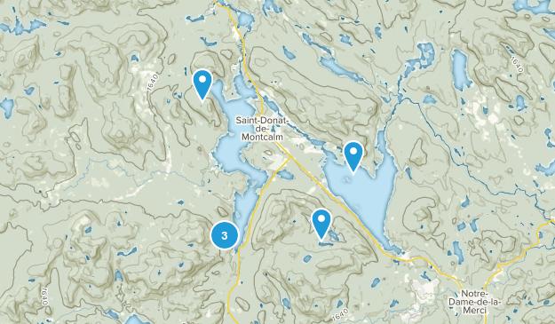 Saint-Donat-de-Montcalm, Quebec Hiking Map