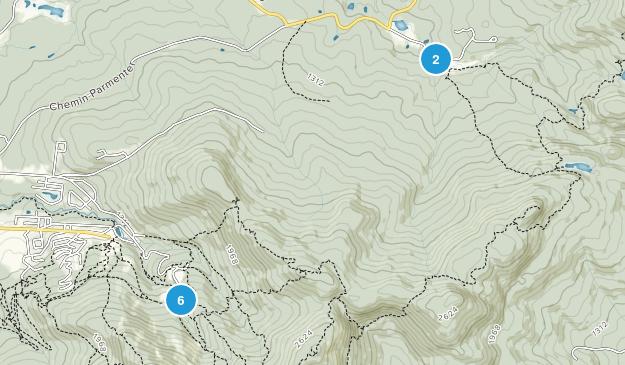 Sutton, Quebec Hiking Map