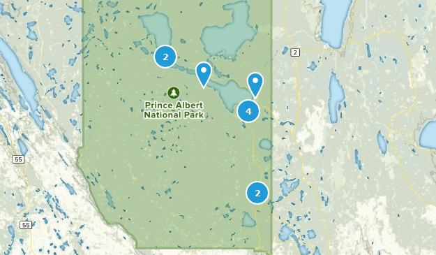 Prinz-Albert-Nationalpark, Saskatchewan Hiking Map