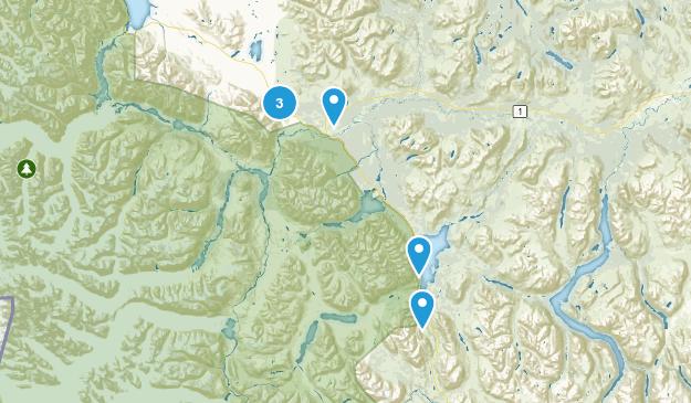 Haines Junction, Yukon Hiking Map