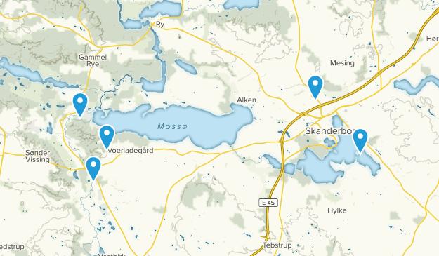 Skanderborg, Midtjylland Birding Map
