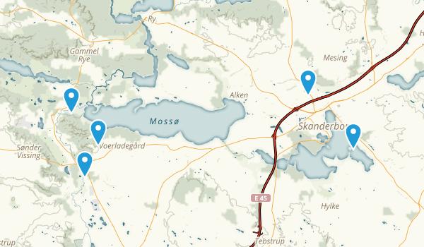Skanderborg, Midtjylland Walking Map