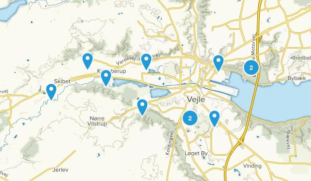Vejle, Syddanmark Hiking Map